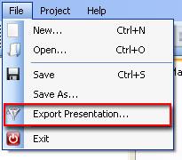 New exportation menu