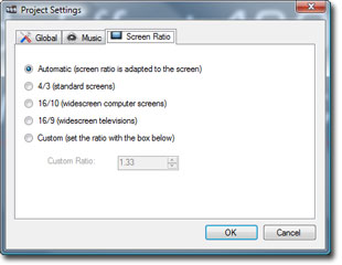 Widescreen format settings